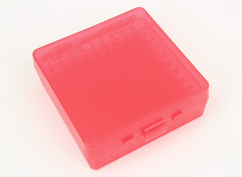 100-Round Pistol Ammo Clear Red Box, 44 Mag, 44 Spl, 45 LC
