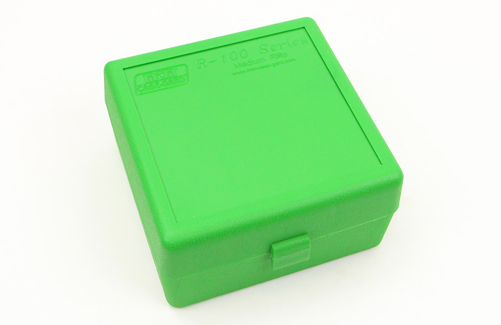 100-Round Rifle Ammo Green Box, 5.56, 5.45, 7.62, and More